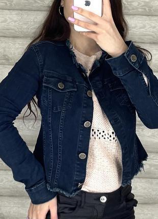 Джинсовый пиджак jimmy key2 фото