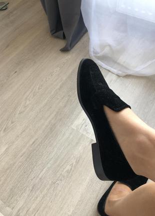 Туфли mango велюр
