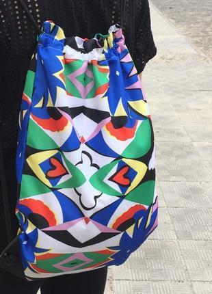 Рюкзак, сумка carpisa, разноцветный рюкзак от carpisa. модний рюкзак.