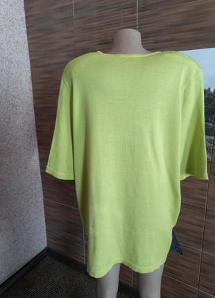 Колекционный свитерок с коротким рукавом karin glasmacher германия.2 фото