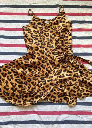 Леопардовый сарафан на запах1 фото