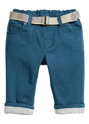 Хлопковые брюки на подкладке h&m