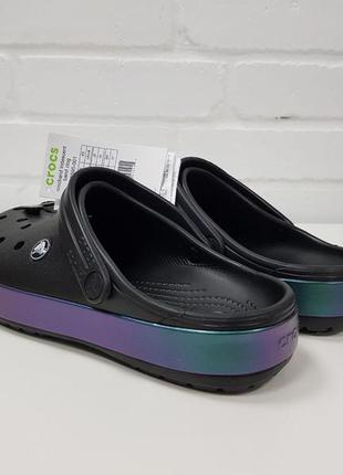 Сабо кроксы клоги crocs crocband iridescent band clog 2065955 фото
