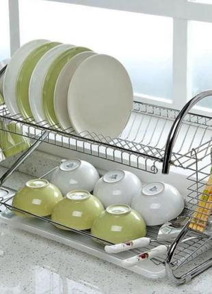 Стойка для хранения посуды kitchen storage rack, сушилка для посуды