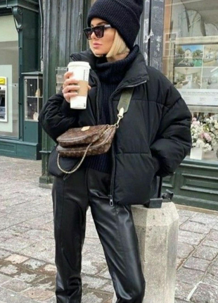 Крутая дутая куртка zara2 фото