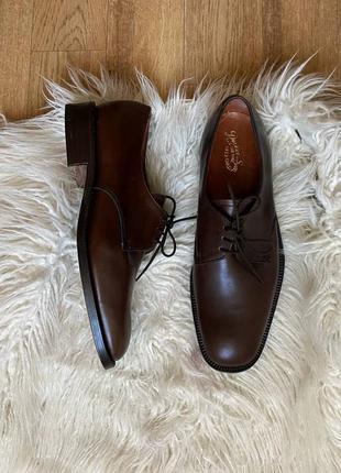 Новые натур. кожаные оксфорды туфли на шнурках шоколадного цвета