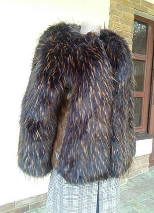 Мега  шикарная куртка, комбинированая с кожей. италия.3 фото