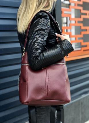 Женский рюкзак сумка рюкзак черный рюкзак классический рюкзак городской рюкзак2 фото