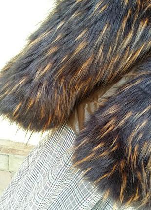 Мега  шикарная куртка, комбинированая с кожей. италия.6 фото