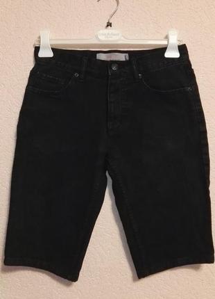 Шорты скинни мужские черные джинсовые размер w28 (42-44размер) от topman
