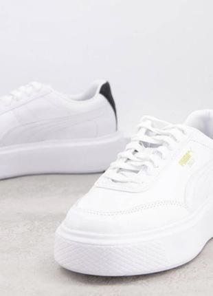 Puma oslo femme 41-42 білі трендові шкіряні кросівки1 фото