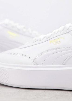 Puma oslo femme 41-42 білі трендові шкіряні кросівки3 фото