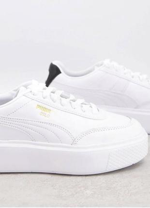 Puma oslo femme 41-42 білі трендові шкіряні кросівки4 фото