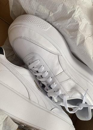 Puma oslo femme 41-42 білі трендові шкіряні кросівки5 фото