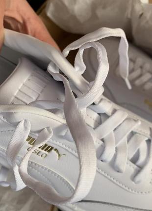 Puma oslo femme 41-42 білі трендові шкіряні кросівки7 фото