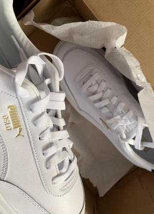 Puma oslo femme 41-42 білі трендові шкіряні кросівки6 фото