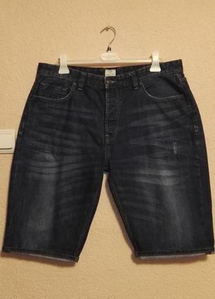 Шорты джинсовые мужские синие 100% хлопок,размер w38 (52-54размер) от  easy