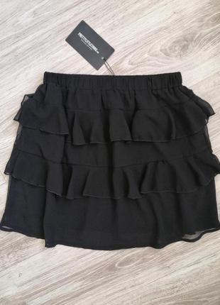 Спідниця юбка чорного кольору розмір виробника 10, нова з біркою 💃