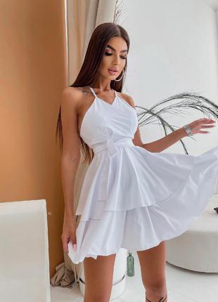 Женское легкое платье на брителях
