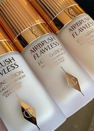 Тональная основа charlotte tilbury airbrush flawless foundation