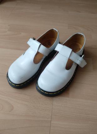 Белые dr.martens винтаж mary jane туфли