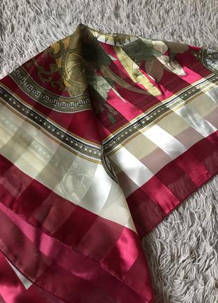 Шарф платок женский тонкий красный длинный