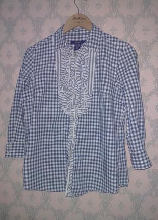Женская рубашка блуза в клетку gant