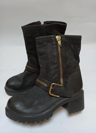 After eden полусапоги черные.брендовая обувь stock
