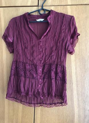 Легкая блузка топ блуза на пуговицах летящая лето
