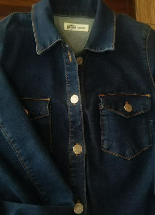 Трендове джинсове темний denim плаття сорочка з довгим рукавом
