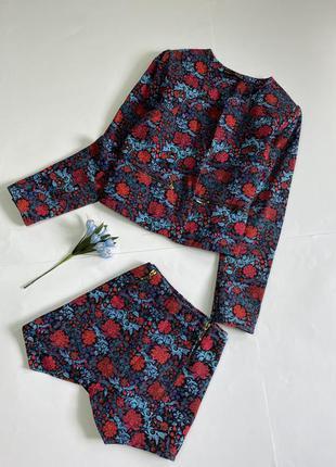 Костюм пиджак шорты натуральная ткань