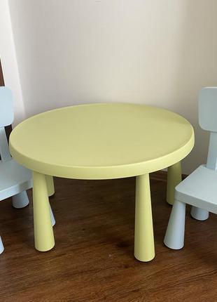 Детский стол и 2 стула икеа