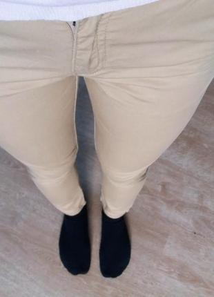Бежевые штаны брюки джинсы