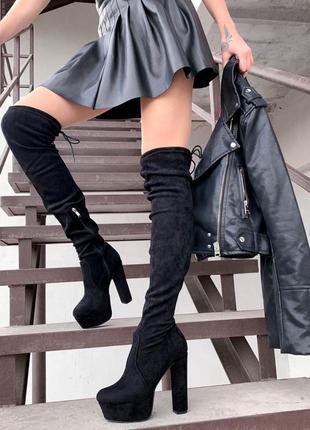 Ботфорты на высоком каблуке
