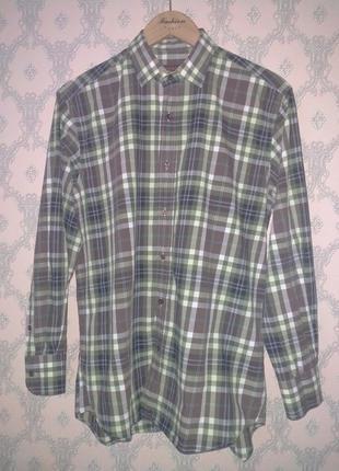 Мужская рубашка с длинным рукавом в клетку etro
