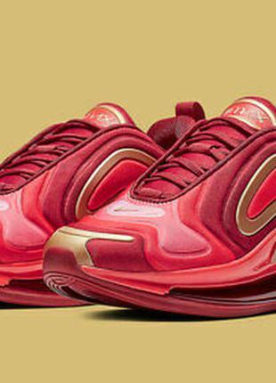 Nike air max 720 red gold кроссовки беговые легкие повседневные для зала тренировок