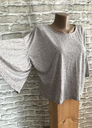 Кофта футболка женская серая