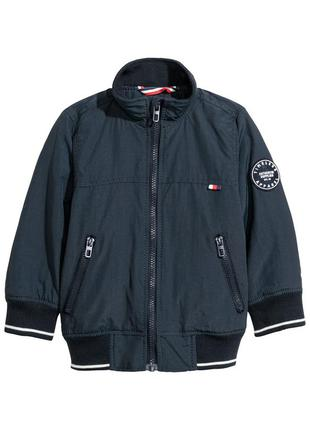 Куртка ветровка синяя на молнии с карманами h&m