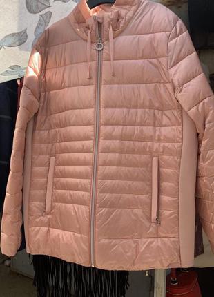 Женская куртка демисезонная вечерняя куртка розовая куртка пудровая куртка женская брендовая куртка