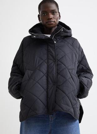Слегка утепленная куртка оверсайз из стеганого нейлона