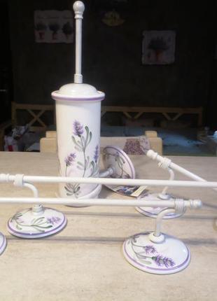 Элитный набор для ванной комнаты прованс ferroluce (италия),керамика,роспись...