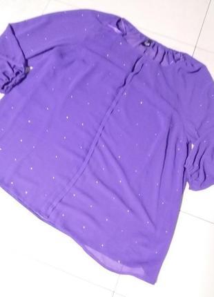 Яркая шифоновая со стразами блуза очень большого 24-26 размера