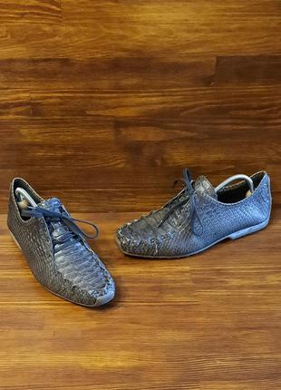 Мокасины женские kennel & schmenger натуральная кожа питона/крокодил размер 38