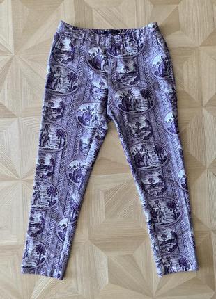 Красивые классические брюки (штаны на каждый день) из натуральной ткани дорогого бренда