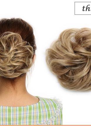 Волосы на резинке шиньон 17см пряди