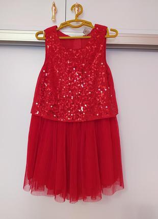 Нарядное красивое платье с паетками болеро