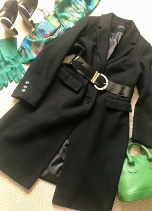 Обалденное шерстяное пальто бренда m&s autoharph