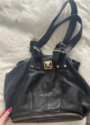 Люксовая кожаная  сумка gf ferre gianfranco ferre  оригинал. шопер