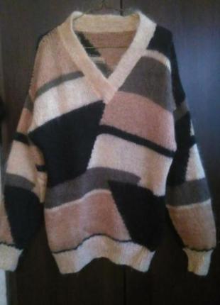Мохеровый свитер, винтаж.