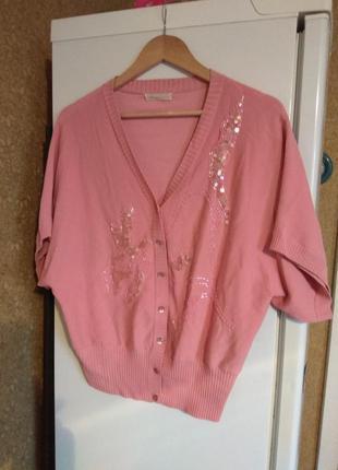 Итальянская нарядная розовая кофточка